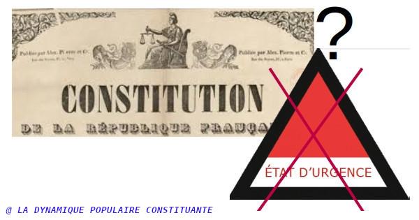 Pourquoi faut-il inscrire dans la Constitution l'interdiction des états d'urgence ?